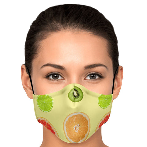 65 MCMLXV Unisex Citrus Fruit Toss Print Face Mask-Fashion Face Mask - AOP-65mcmlxv