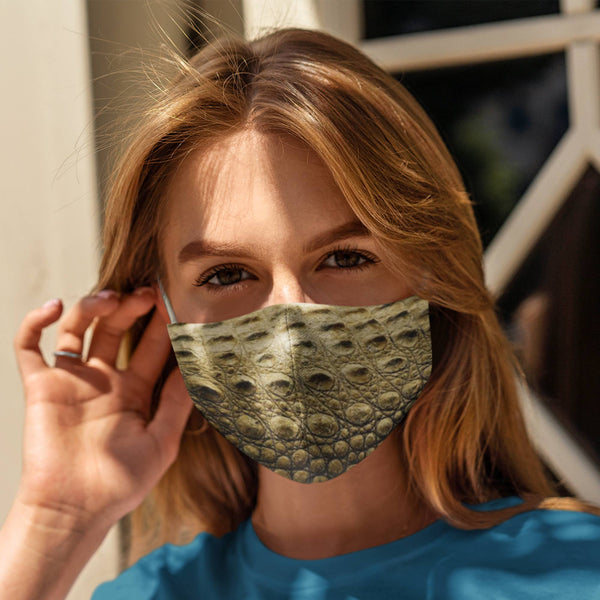 65 MCMLXV Unisex Crocodile Print Face Mask-Fashion Face Mask - AOP-65mcmlxv