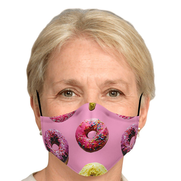 65 MCMLXV Unisex Doughnut Toss Print Face Mask-Fashion Face Mask - AOP-65mcmlxv