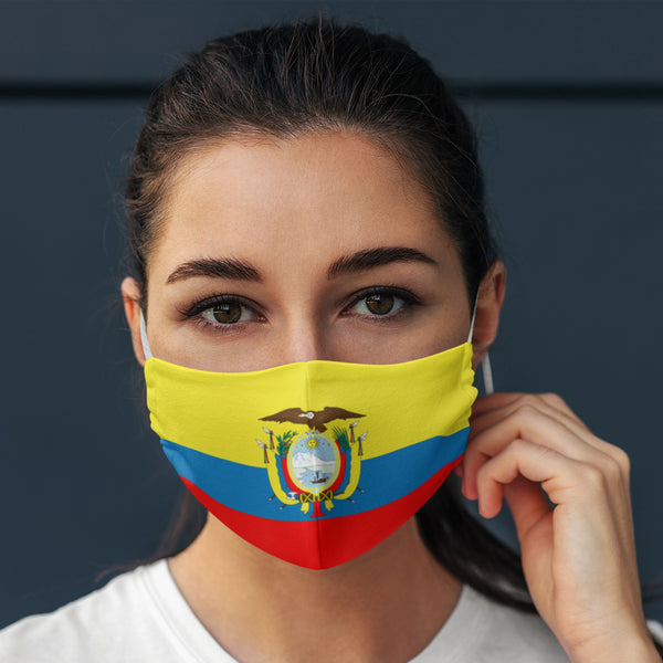 65 MCMLXV Unisex Ecuador Flag Print Face Mask-Fashion Face Mask - AOP-65mcmlxv