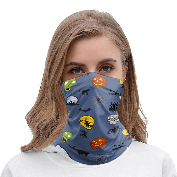 65 MCMLXV Unisex Halloween Icons Print Neck Gaiter-Fashion Face Mask - AOP-65mcmlxv