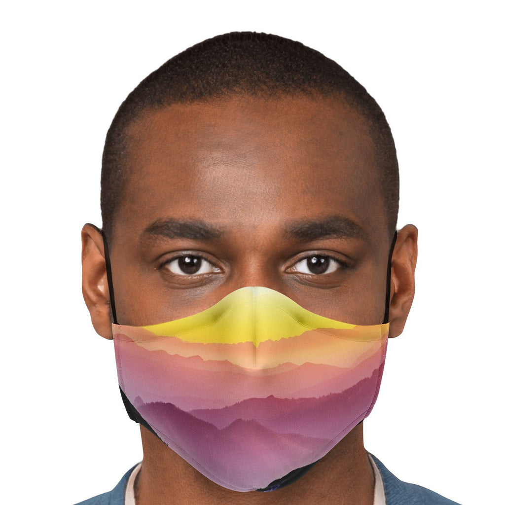 65 MCMLXV Unisex Mountain Horizon Print Face Mask-Fashion Face Mask - AOP-65mcmlxv