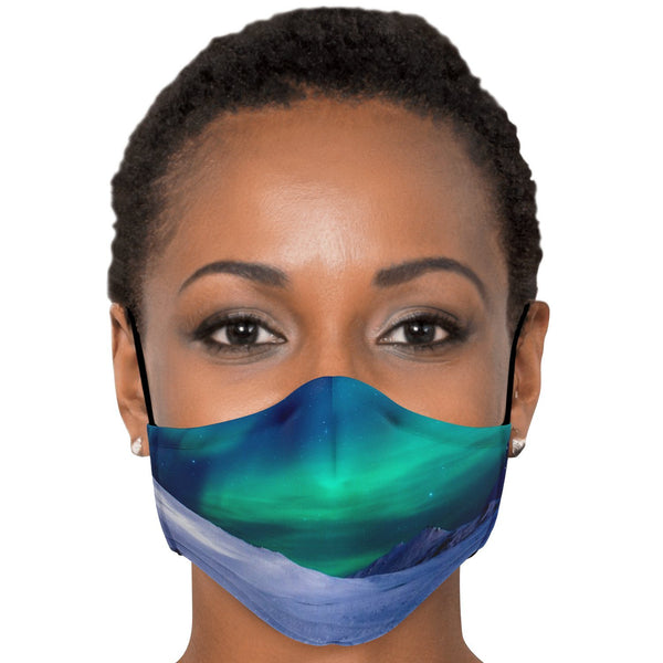 65 MCMLXV Unisex Northern Lights Print Face Mask-Fashion Face Mask - AOP-65mcmlxv