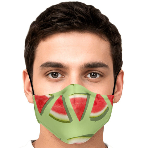65 MCMLXV Unisex Watermelon Stripe Print Face Mask-Fashion Face Mask - AOP-65mcmlxv