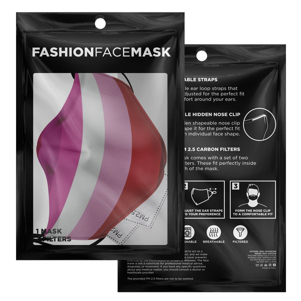 65 MCMLXV Women's Lesbian Pride Flag Face Mask-Fashion Face Mask - AOP-65mcmlxv