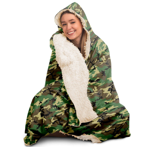 65 MCMLXV Unisex Military Camouflage Hooded Blanket-Hooded Blanket - AOP-65mcmlxv