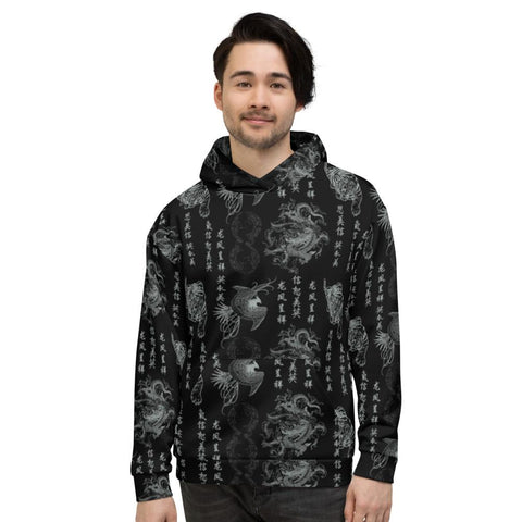 "Hoody - Men's ""Destroy All Icons"" Tattoo Print Fleece Hoodie"