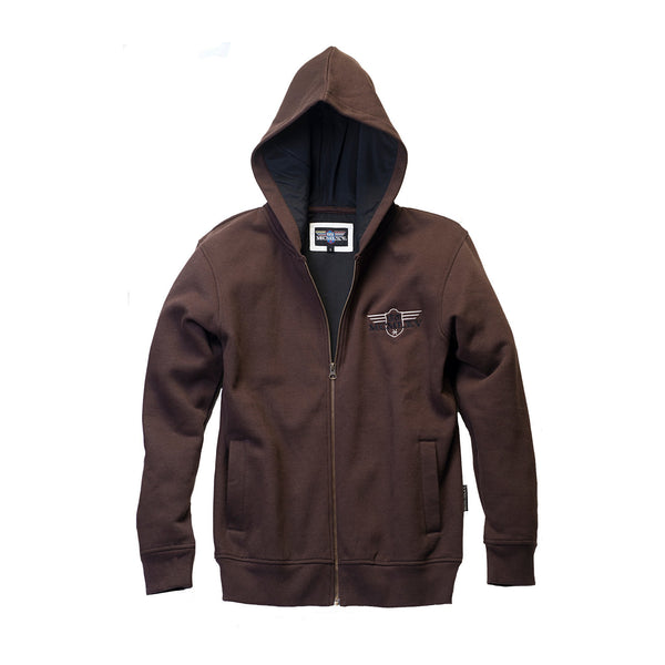 Hoody - Men's Zip Hoodie In Coffee