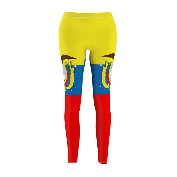 65 MCMLXV Women's Ecuador Flag Print Leggings-Leggings-65mcmlxv