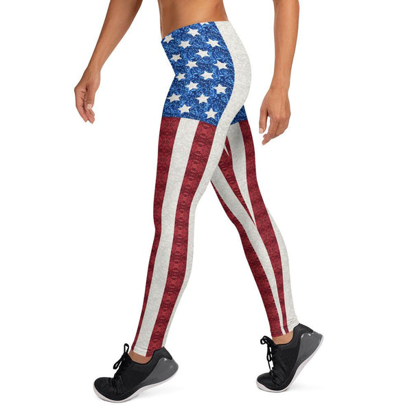 Leggings - AOP - 65 MCMLXV Women's Americana USA Flag Print Leggings