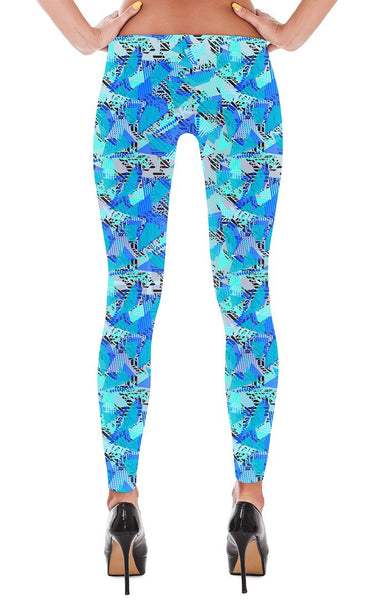 Leggings - Women's Fractured Geo Print Leggings