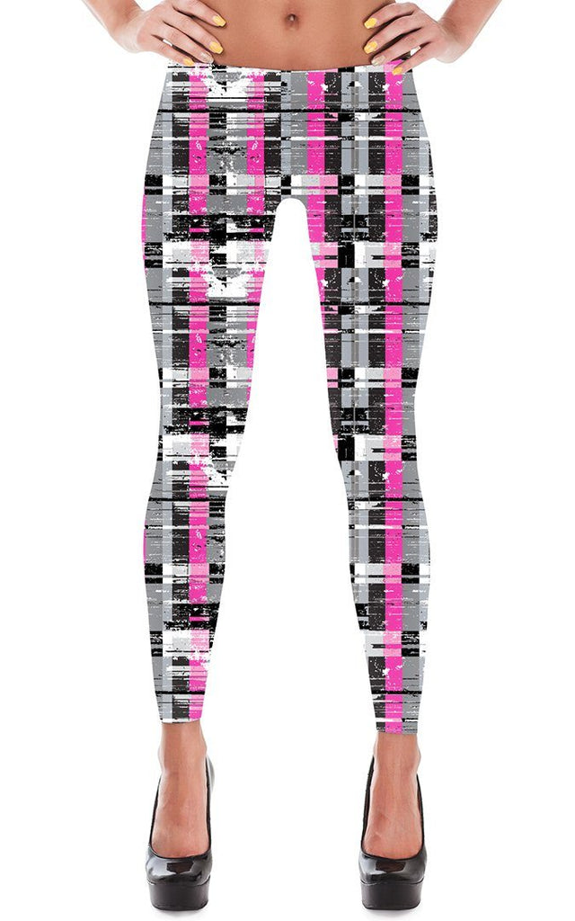 Leggings - Women's Fractured Stripe Leggings