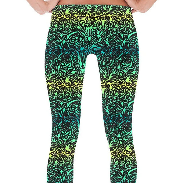 Leggings - Women's Ombre Squiggles Print Leggings