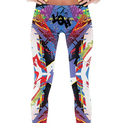 Leggings - Women's Pop Art Leggings