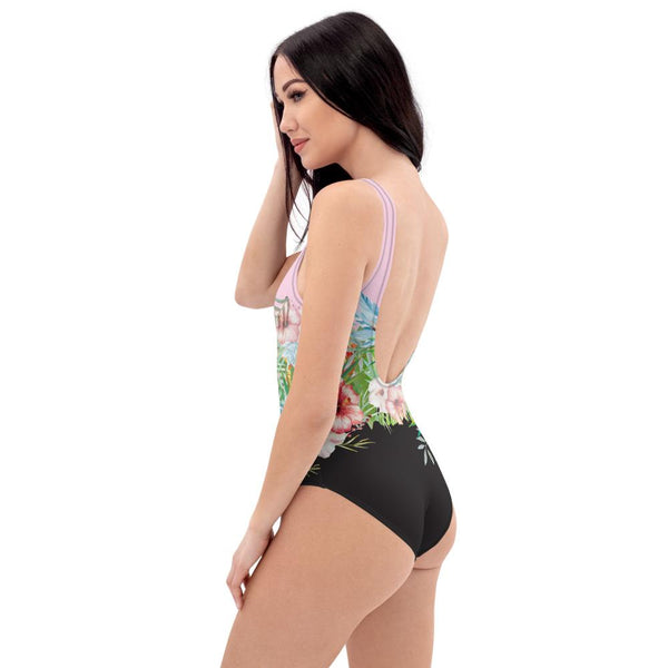 65 MCMLXV Women's Engineered Tropical Floral Print One-Piece Swimsuit-One-Piece Swimsuit - AOP-65mcmlxv