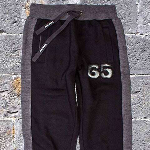 65 MCMLXV Men's Dress Sweat Pant In Black-Pant-65mcmlxv