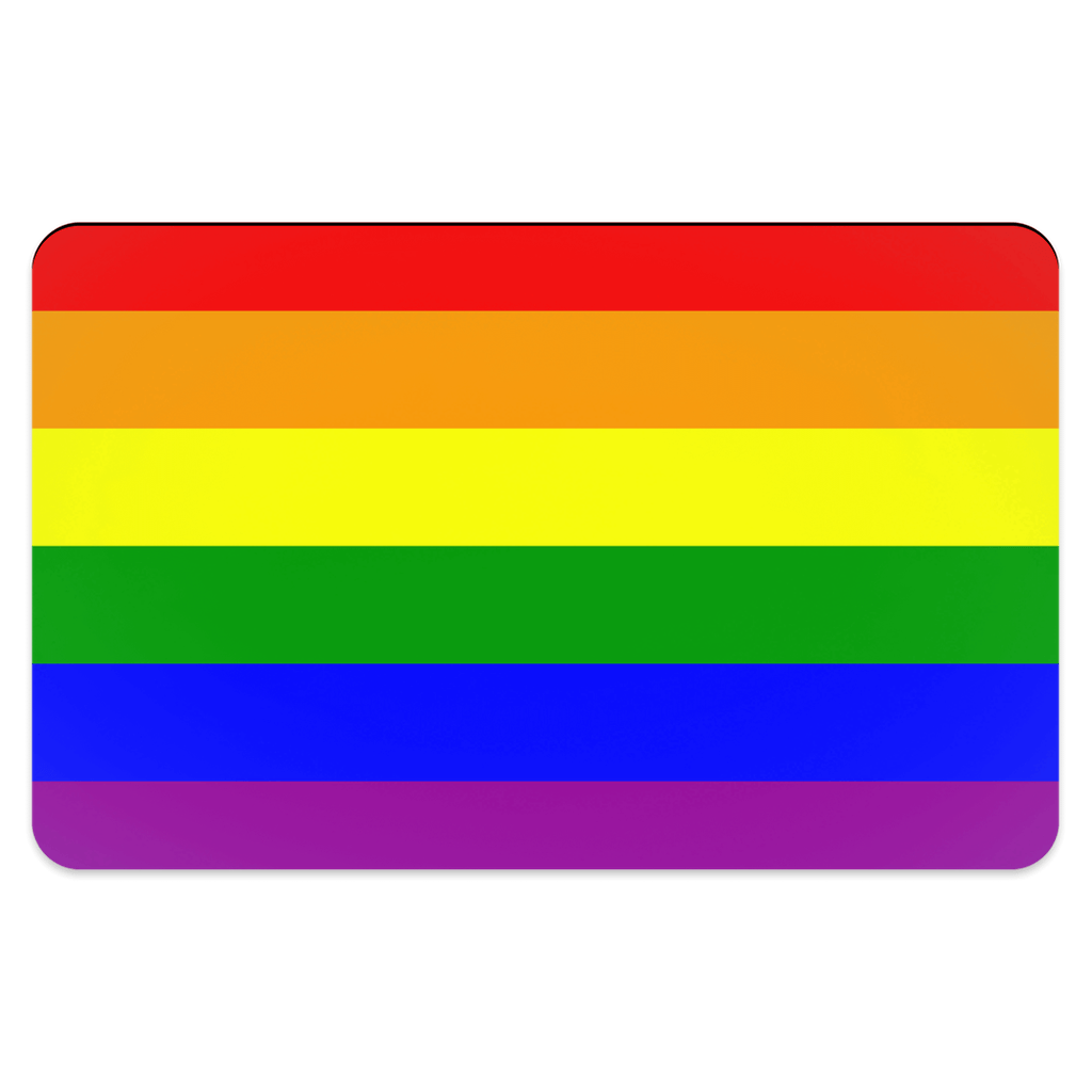65 MCMLXV Gay Pride Rainbow Flag Pet Placemat-pet placemat-65mcmlxv