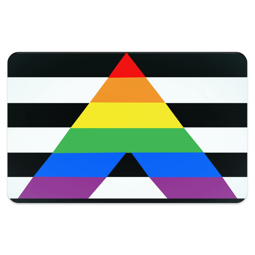 65 MCMLXV LGBT Straight Ally Flag Print Pet Placemat-pet placemat-65mcmlxv