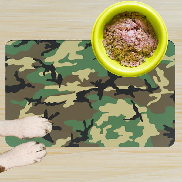 65 MCMLXV Military Camouflage Print Pet Placemat-pet placemat-65mcmlxv