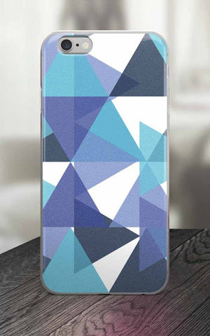 65 MCMLXV Blue Colored Triangles Print iPhone Case-Phone Case-65mcmlxv