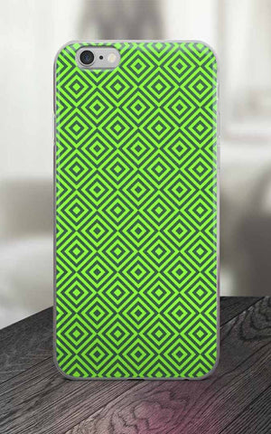 Phone Case - 65 MCMLXV Green Geometric Diamond Print IPhone Case