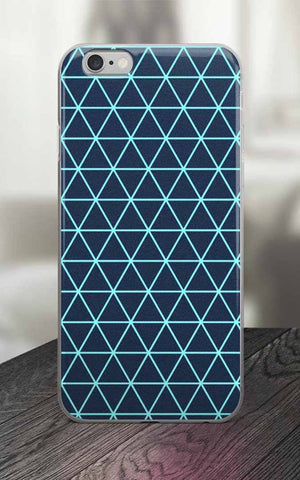 Phone Case - 65 MCMLXV Navy Triangle Grid Print IPhone Case