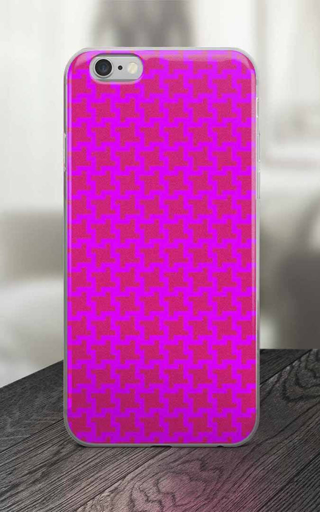 65 MCMLXV Pink Geometric Houndstooth Print iPhone Case-Phone Case-65mcmlxv