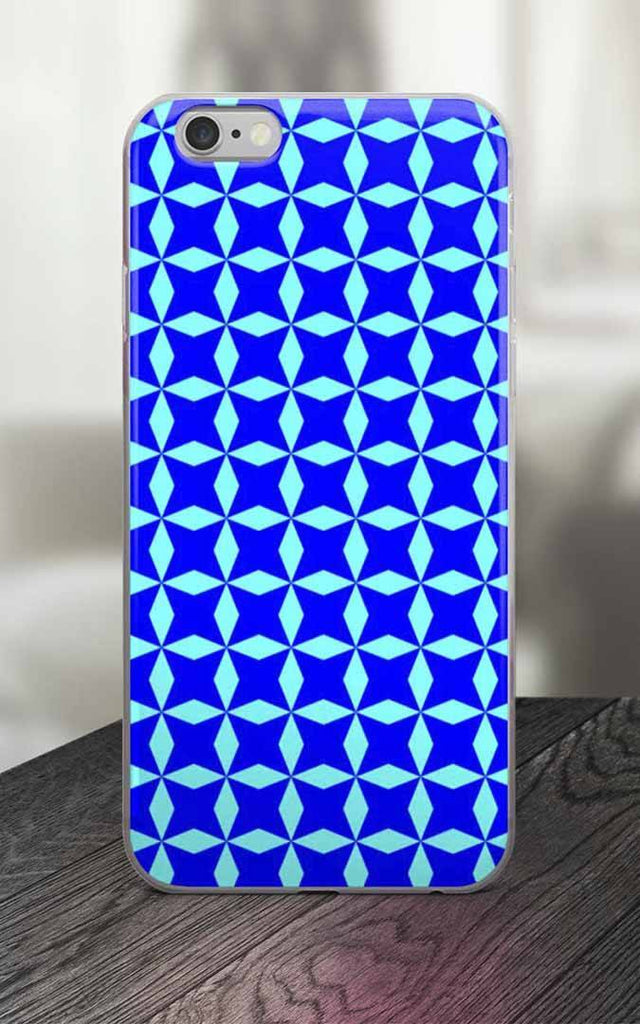 Phone Case - 65 MCMLXV Royal Blue Ninja Stars Print IPhone Case
