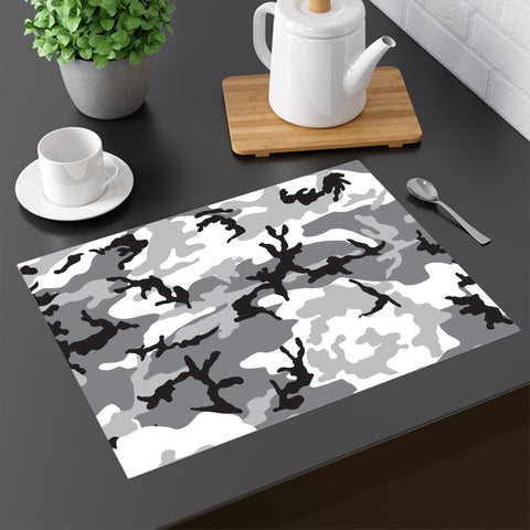 Placemat - 65 MCMLXV Grey Camouflage Print Four-piece Placemats