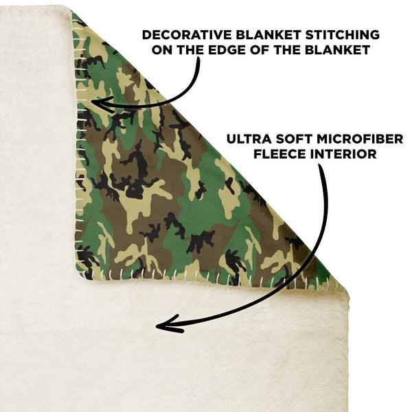 65 MCMLXV Military Camouflage Print Microfleece Blanket-Premium Microfleece Blanket - AOP-65mcmlxv