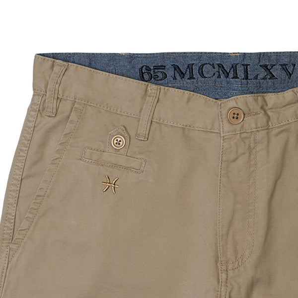 65 MCMLXV Men's Khaki Chino Short-Short-65mcmlxv