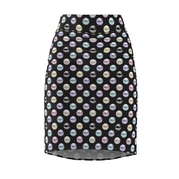 65 MCMLXV Women's Pearl Polka Dot Print Pencil Skirt-Skirt-65mcmlxv