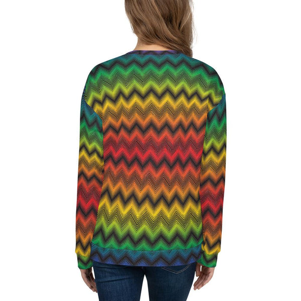 Sweatshirts - Women's Pride Chevron Print Fleece Sweatshirt