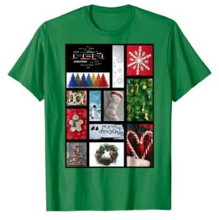 65 MCMLXV Unisex Merry Christmas Holiday Postcard Collage Graphic T-Shirt-T-shirt-65mcmlxv