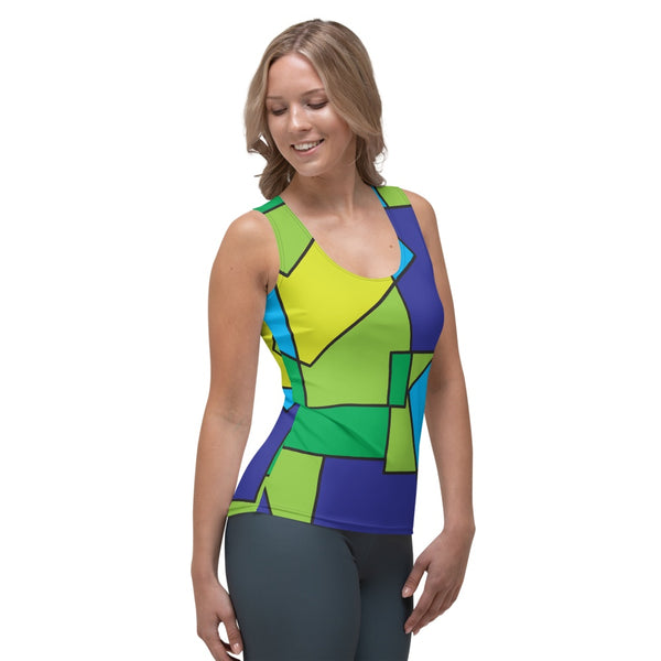 65 MCMLXV Women's Abstract Color Block Tank Top-Tank Top-65mcmlxv