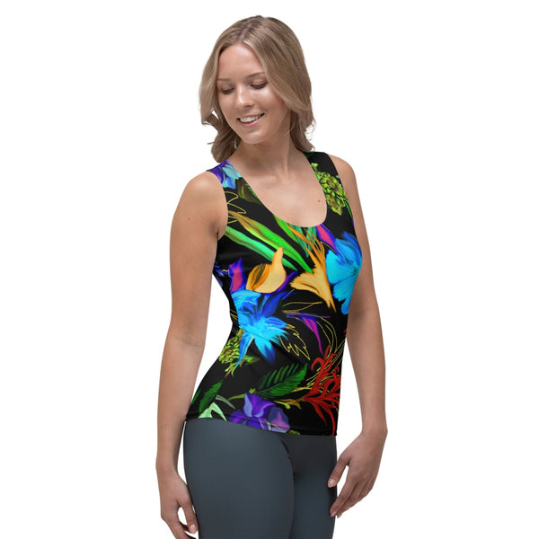 65 MCMLXV Women's Exotic Tropical Print Tank Top-Tank Top-65mcmlxv