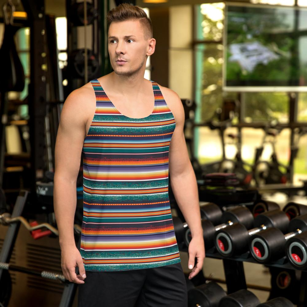 65 MCMLXV Men's Blanket Stripe Tank Top-Tank Top-65mcmlxv
