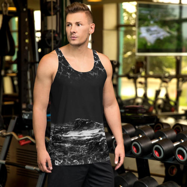 Tank Top - Men's Obsidian Planet Printed Tank Top