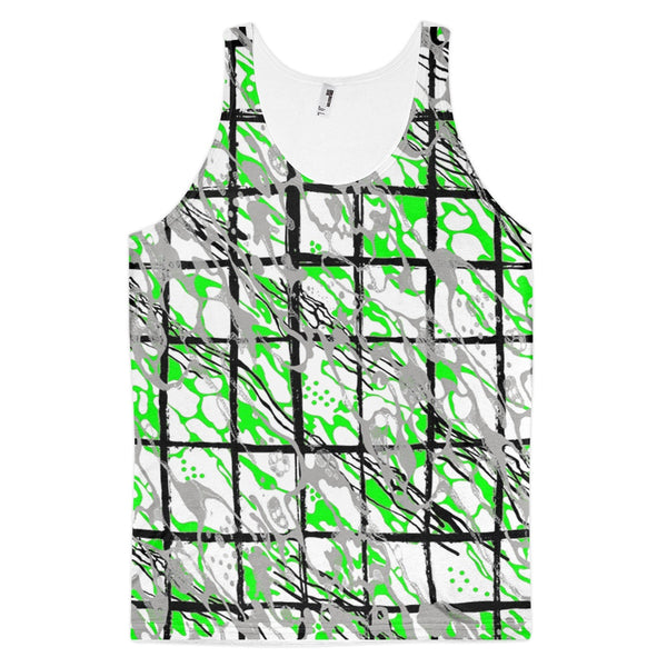 65 MCMLXV Men's Paint Splatter Camouflage Plaid Tank Top-Tank Top-65mcmlxv