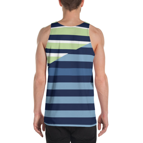 65 MCMLXV Men's Spliced Rugby Stripe Tank Top-Tank Top-65mcmlxv