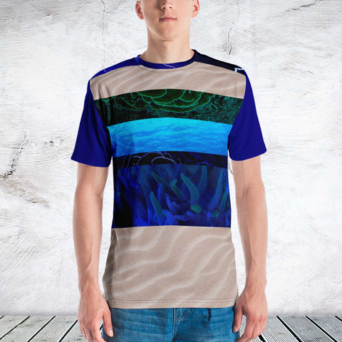 65 MCMLXV Men's Earth, Air & Sea Print T-Shirt-Tee Shirt-65mcmlxv