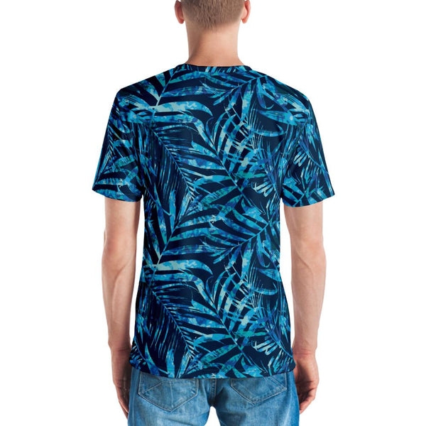65 MCMLXV Men's Tropical Tie-Dye Leaves Print T-shirt-Tee Shirt-65mcmlxv