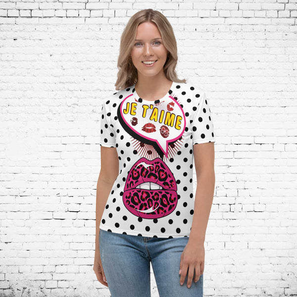 65 MCMLXV Women's Pop Art Love Print T-Shirt-Tee Shirt-65mcmlxv