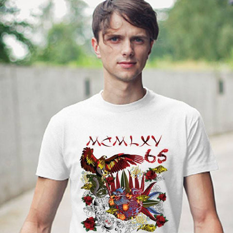 "Tee Shirt - Men's ""Destroy All Icons"" Tattoo Graphic T-Shirt"