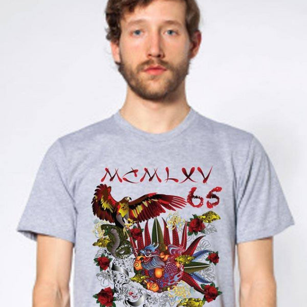 "65 MCMLXV Men's ""Destroy All Icons"" Tattoo Graphic T-Shirt-Tee Shirt-65mcmlxv"