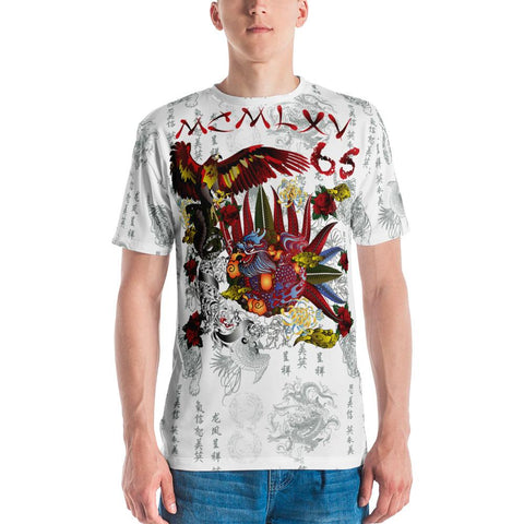 "Tee Shirt - Men's ""Destroy All Icons"" Tattoo Print T-Shirt"