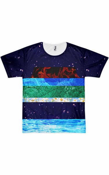 Tee Shirt - Men's Elemental Print T-Shirt