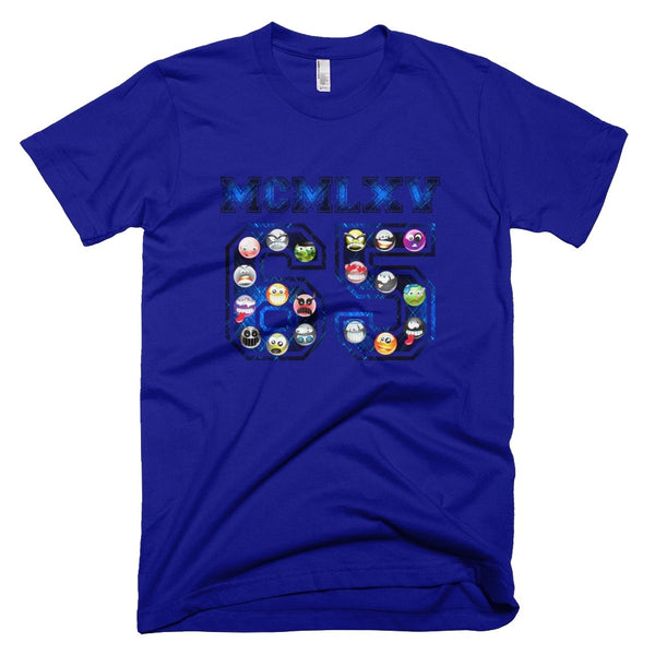 Tee Shirt - Men's Emoji Varsity Logo Graphic T-Shirt