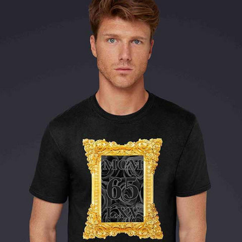 Tee Shirt - Men's Framed Black Roses Graphic T-Shirt