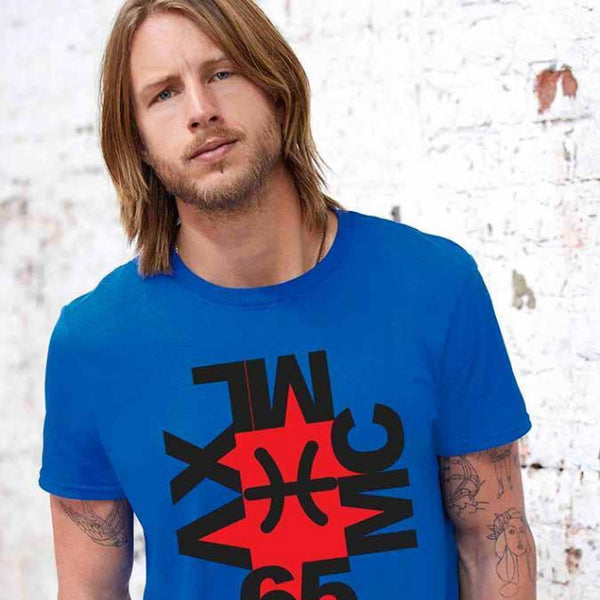 Tee Shirt - Men's Modern Art Graphic Logo T-Shirt